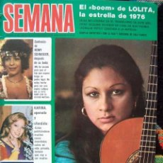 Coleccionismo de Revistas y Periódicos: REVISTA SEMANA 1976 / LOLITA FLORES, KARINA, JAMES BROLIN, ROMY SCHNEIDER, AGATA LYS,ELSA MARTINELLI. Lote 34921926