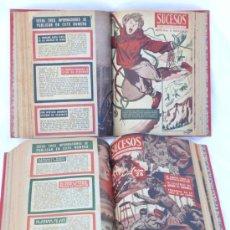 Coleccionismo de Revistas y Periódicos: REVISTA SUCESOS AÑOS 50 MAS DE 30 EJEMPLARES ENCUADRENADOS. Lote 34925799
