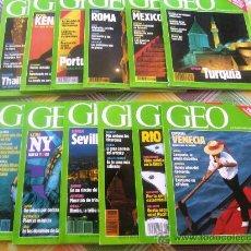 Coleccionismo de Revistas y Periódicos: GEO - LA NUEVA VISIÓN DEL MUNDO - AÑO 1990 COMPLETO EN ESTUPENDO ESTADO. CON SUS GUÍAS TEMÁTICAS. Lote 34943636
