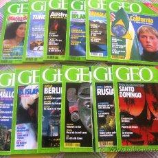 Coleccionismo de Revistas y Periódicos: GEO - LA NUEVA VISIÓN DEL MUNDO - AÑO 1991 COMPLETO EN ESTUPENDO ESTADO. CON SUS GUÍAS TEMÁTICAS. Lote 34943645