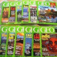 Coleccionismo de Revistas y Periódicos: GEO - LA NUEVA VISIÓN DEL MUNDO - AÑO 1994 COMPLETO EN ESTUPENDO ESTADO. CON SUS GUÍAS TEMÁTICAS. Lote 34943697
