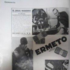 Coleccionismo de Revistas y Periódicos: PUBLICIDAD RELOJ ERMETO MOVADO - 1929. Lote 34967232