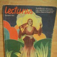 Coleccionismo de Revistas y Periódicos: LECTURAS Nº 129 - FEBRERO 1932. Lote 34969459