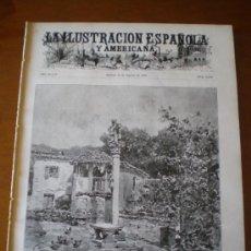 Coleccionismo de Revistas y Periódicos: ILUSTRACION ESPAÑOLA/AMERICANA (22/08/04) COMBARRO PONTEVEDRA SOUTO OVIEDO SAN SEBASTIAN GIRALDILLA. Lote 34973567