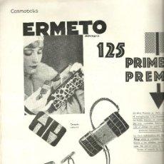 Coleccionismo de Revistas y Periódicos: PUBLICIDAD RELOJ ERMETO MOVADO - 1929. Lote 34985032