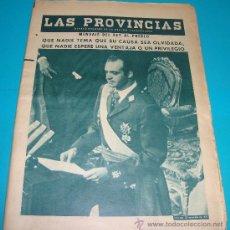 Coleccionismo de Revistas y Periódicos: LAS PROVINCIAS LA PROCLAMACIÓN DE JUAN CARLOS I 23 NOVIEMBRE 1975, MENSAJE AL PUEBLO. Lote 35002179
