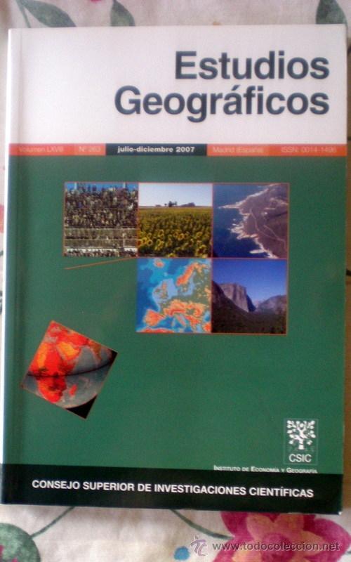 ESTUDIOS GEOGRÁFICOS Nº 262;CSIC 2007;¡NUEVA! (Coleccionismo - Revistas y Periódicos Modernos (a partir de 1.940) - Otros)