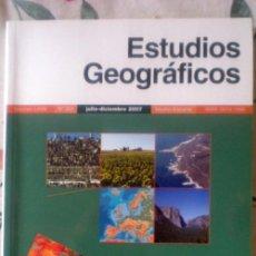 Coleccionismo de Revistas y Periódicos: ESTUDIOS GEOGRÁFICOS Nº 262;CSIC 2007;¡NUEVA!. Lote 13724058