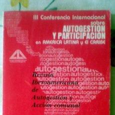 Coleccionismo de Revistas y Periódicos: REVISTA IBEROAMERICANA DE AUTOGESTION Y ACCION COMUNAL;NºS 5-6;1983. Lote 35070326