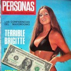 Coleccionismo de Revistas y Periódicos: REVISTA PERSONAS Nº 16 / DAVID JANSSEN, BRIGITTE BARDOT, MYLENE DEMONGEOT, FLORINDA BOLKAN, Y +++++. Lote 35108822