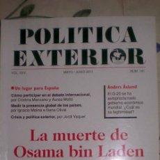Coleccionismo de Revistas y Periódicos: POLITICA EXTERIOR;Nº141;MAYO-JUNIO 2011;¡NUEVA!. Lote 35208373