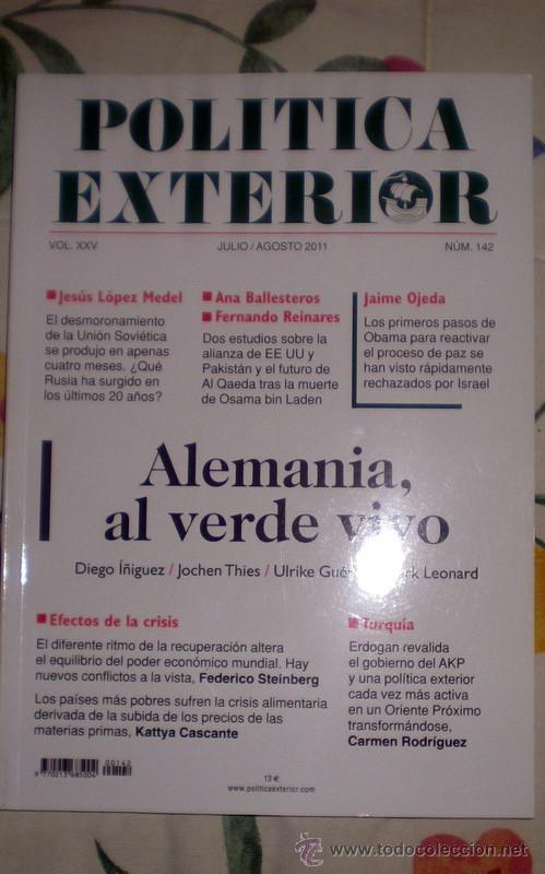 POLÍTICA EXTERIOR;Nº142;JULIO-AGOSTO 2011;¡NUEVA! (Coleccionismo - Revistas y Periódicos Modernos (a partir de 1.940) - Otros)