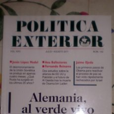Coleccionismo de Revistas y Periódicos: POLÍTICA EXTERIOR;Nº142;JULIO-AGOSTO 2011;¡NUEVA!. Lote 35208430