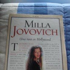 Coleccionismo de Revistas y Periódicos: MILLA JOVOVICH - REVISTA BLANCO & NEGRO . Lote 35201200