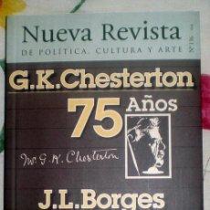 Coleccionismo de Revistas y Periódicos: NUEVA REVISTA DE POLÍTICA,CULTURA Y ARTE-CHESTERTON/BORGES-;Nº136;¡NUEVA!. Lote 35208662