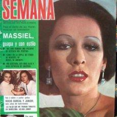 Coleccionismo de Revistas y Periódicos: REVISTA SEMANA 1976 / MASSIEL, TARYN POWER, PAUL ANKA, ROCIO DURCAL, BARBARA REY,. Lote 35216453
