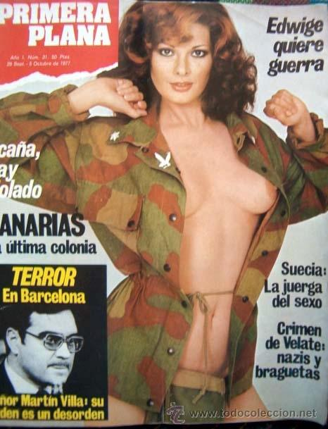 REVISTA PRIMERA PLANA Nº 31 / 1977 / EDWIGE FENECH DESNUDA (Coleccionismo - Revistas y Periódicos Modernos (a partir de 1.940) - Otros)
