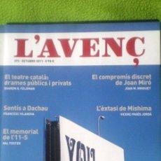 Coleccionismo de Revistas y Periódicos: L´AVENÇ;Nº372;OCTUBRE 2011;¡NUEVA!. Lote 35236834