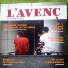 Coleccionismo de Revistas y Periódicos: L´AVENÇ;Nº373;NOVIEMBRE 2011;¡NUEVA!. Lote 35239739