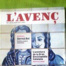 Coleccionismo de Revistas y Periódicos: L´AVENÇ;Nº370 JULIO/AGOSTO 2011;¡NUEVA!. Lote 35239777
