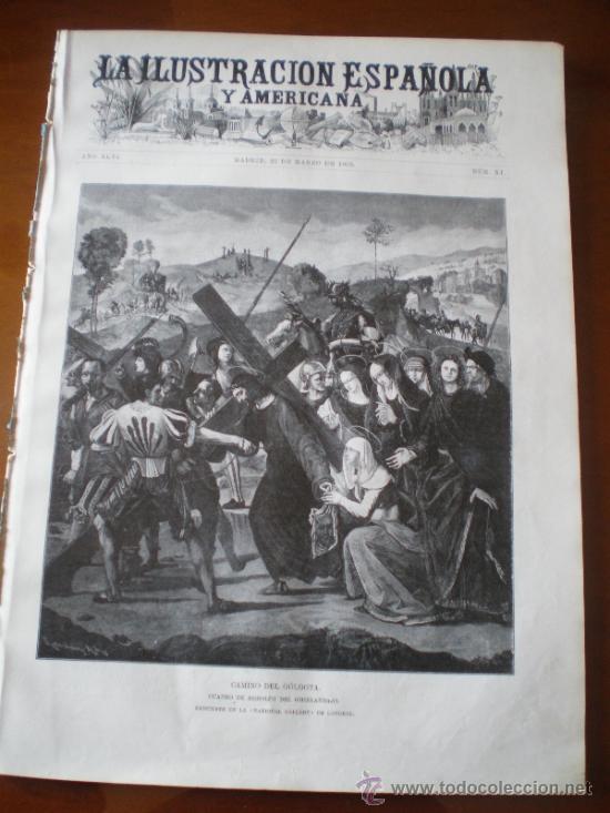 ILUSTRACION ESPAÑOLA/AMERICANA (22/03/02) JAEN JAVIER DE BURGOS FERNANDEZ CHACON EL ESCORIAL (Coleccionismo - Revistas y Periódicos Antiguos (hasta 1.939))