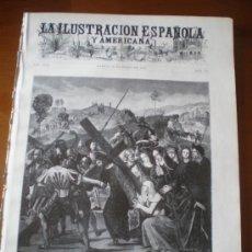 Coleccionismo de Revistas y Periódicos: ILUSTRACION ESPAÑOLA/AMERICANA (22/03/02) JAEN JAVIER DE BURGOS FERNANDEZ CHACON EL ESCORIAL. Lote 35270664