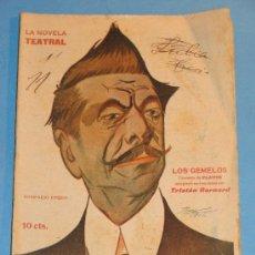 Coleccionismo de Revistas y Periódicos: REVISTA DEL AÑO 1917. TEATRO. LA NOVELA TEATRAL. LOS GEMELOS. TRISTÁN BERNARD. . Lote 35270792