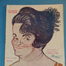 Coleccionismo de Revistas y Periódicos: REVISTA DEL AÑO 1920. TEATRO. LA NOVELA TEATRAL. JETTATORE, LEFERRE Y MARIO. . Lote 35270808