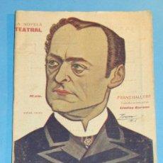 Coleccionismo de Revistas y Periódicos: REVISTA DEL AÑO 1918. TEATRO. LA NOVELA TEATRAL. FRANZ HALLERS, LINDAU GARSEE . Lote 35271017
