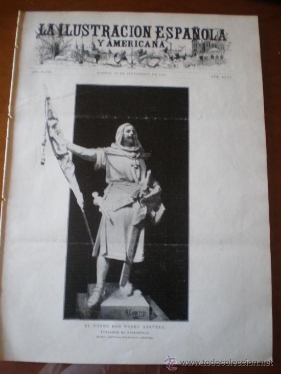 ILUSTRACION ESPAÑOLA/AMERICANA (22/09/03) VALLADOLID MARTINEZ ABADES FEMINISMO BOGOTA VENECIA (Coleccionismo - Revistas y Periódicos Antiguos (hasta 1.939))