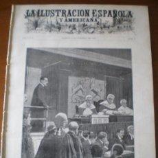 Coleccionismo de Revistas y Periódicos: ILUSTRACION ESPAÑOLA/AMERICANA (08/02/03) FORAMINIFEROS MARRUECOS TOMAS PIÑEIRO LONDRES LYNCH. Lote 35332039