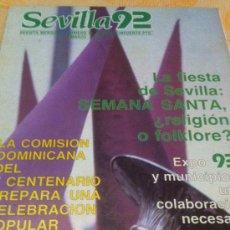 Coleccionismo de Revistas y Periódicos: SEMANA SANTA DE SEVILLA. SEVILLA 92 SEMANA SANTA MARZO 1986. Lote 35337906