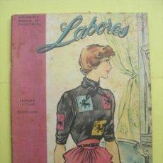 Coleccionismo de Revistas y Periódicos: LABORES. AGOSTO 1949. . Lote 35445117