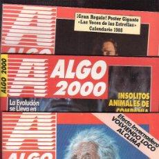 Coleccionismo de Revistas y Periódicos: REVISTA ALGO 2000 , LOTE DE 7 EJEMPLARES -EDITADAS - AÑOS 90. Lote 35462808
