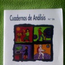 Coleccionismo de Revistas y Periódicos: CUADERNOS DE ANÁLISIS Nº26-IGUALDAD DE OPORTUNIDADES Y LUCHA CONTRA EL RACISMO-;¡NUEVA!. Lote 35549750