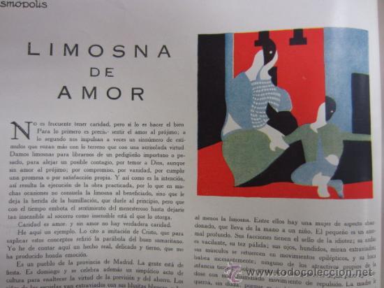 LIMOSNA DE AMOR / LORENZA KOEHLER DE CARRILLO - 1931 * COSMÓPOLIS * (Coleccionismo - Revistas y Periódicos Antiguos (hasta 1.939))