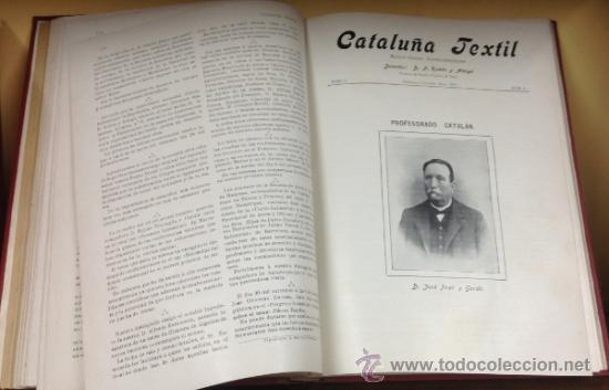 Coleccionismo de Revistas y Periódicos: CATALUÑA TEXTIL. REVISTA DE INDUSTRIAS TEXTILES Y SUS AUXILIARES. XXXI TOMOS. 1906-1937. COMPLETA. - Foto 8 - 35572589