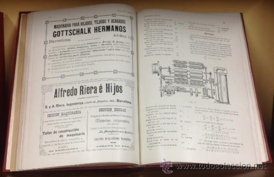 Coleccionismo de Revistas y Periódicos: CATALUÑA TEXTIL. REVISTA DE INDUSTRIAS TEXTILES Y SUS AUXILIARES. XXXI TOMOS. 1906-1937. COMPLETA. - Foto 7 - 35572589