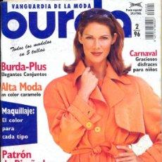 Coleccionismo de Revistas y Periódicos: BURDA. FEBRERO 1996. Lote 35578072