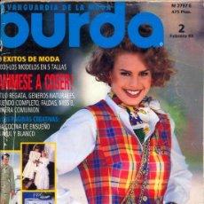 Coleccionismo de Revistas y Periódicos: BURDA FEBRERO 1993. Lote 35588879