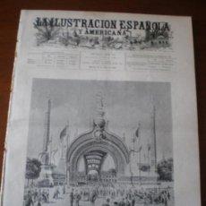 Coleccionismo de Revistas y Periódicos: ILUSTRACION ESPAÑOLA/AMERICANA (22/04/00) FERIA DE SEVILLA SOROLLA MUÑOZ DEGRAIN PARIS EXPOSCION . Lote 35644587