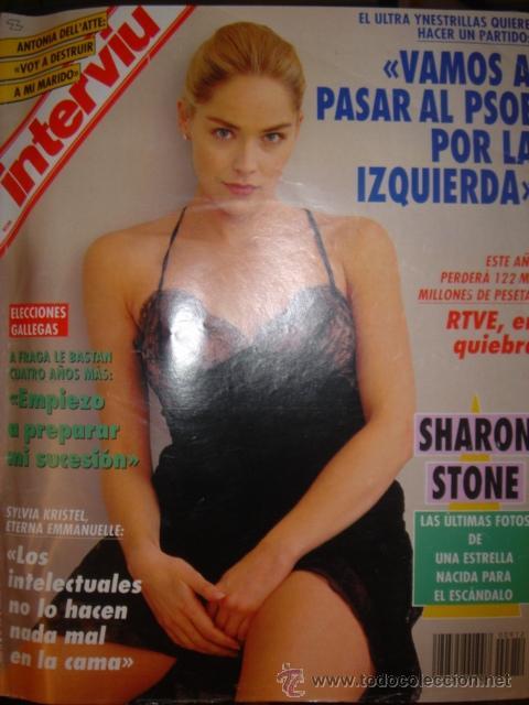 Revista Interviu Nº 912sharon Stonelili Fonse Sold Through