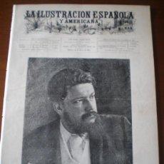 Coleccionismo de Revistas y Periódicos: ILUSTRACION ESPAÑOLA/AMERICANA (22/06/00) MARQUES DE CORVERA SOROLLA BUENOS AIRES CANOVAS PARIS ROMA. Lote 35653065