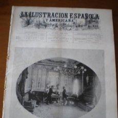 Coleccionismo de Revistas y Periódicos: ILUSTRACION ESPAÑOLA/AMERICANA (22/10/00) MADRID ROMA SOCIEDAD IBERO-AMERICANA RODRIGUEZ SANPEDRO. Lote 35692573