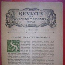 Coleccionismo de Revistas y Periódicos: REVISTA DEL CENTRE DE LECTURA REUS ANY I 15 DE FEBRER DE 1920 Nº 2. Lote 35701483