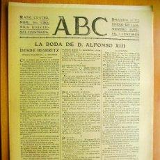 Coleccionismo de Revistas y Periódicos: ABC Nº380- 26 ENERO 1906-D.ALFONSO XIII-ALGECIRAS-. Lote 35726207