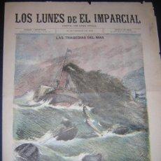 Coleccionismo de Revistas y Periódicos: 12 FEBRERO 1894 - LOS LUNES DEL IMPARCIAL - NAUFRAGIO - CLARÍN, PARDO BAZÁN. Lote 35726487