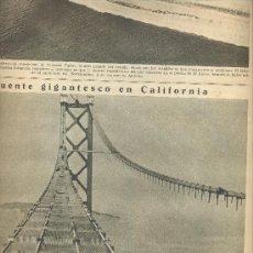 Coleccionismo de Revistas y Periódicos: LA VANGUARDIA AÑO 1935 PUENTE COLGANDE DE SAN FRANCISCO EN CONSTRUCCION GOLDEN GATE. Lote 207142721