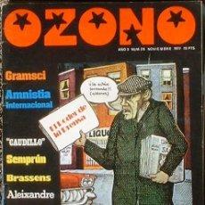 Coleccionismo de Revistas y Periódicos: OZONO - AÑO 3 Nº 26 NOVIIEMBRE 1977 DOSSIER: EL PODER DE LA PRENSA. Lote 35813761