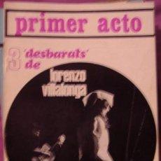Coleccionismo de Revistas y Periódicos: PRIMER ACTO , REVISTA MENSUAL Nº 110, JULIO 1969. Lote 35838463